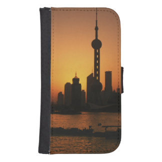 ASIA, China, Shanghai View of Oriental Pearl TV Samsung S4 Wallet Case