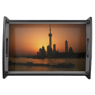 ASIA, China, Shanghai View of Oriental Pearl TV Serving Tray