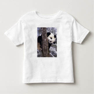 Asia, China, Sichuan Province. Giant Panda in Toddler T-Shirt