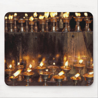 Asia, China, Tibet, Lhasa. Prayer flames, Mouse Pads