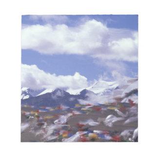 Asia, China, Tibet, Tangla Pass. Prayer flags, Notepad