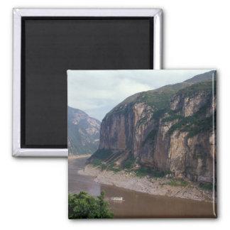 Asia, China, Yangtze River, Three Gorges. Square Magnet