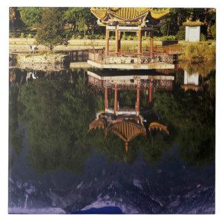 Asia, China, Yunnan, Dali. Cangshan Mountains Large Square Tile