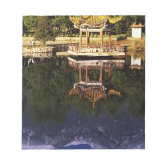 Asia, China, Yunnan, Dali. Cangshan Mountains Notepad