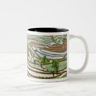 Asia, China, Yunnan, Jinping. Native Yi people Two-Tone Coffee Mug