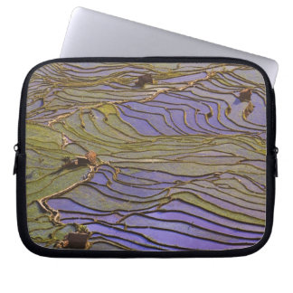Asia, China, Yunnan Province, Yuanyang. Flooded Laptop Sleeve