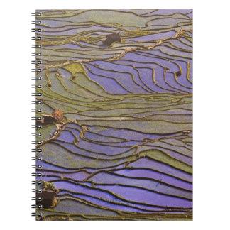 Asia, China, Yunnan Province, Yuanyang. Flooded Notebook