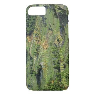 Asia, China, Yunnan, Yuanyang. Pattern of green 2 iPhone 7 Case