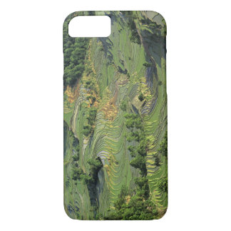 Asia, China, Yunnan, Yuanyang. Pattern of green 2 iPhone 8/7 Case