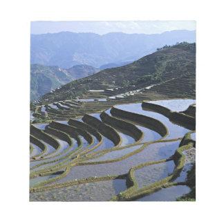 Asia, China, Yunnan, Yuanyang. Rugged Notepad