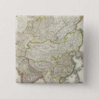 Asia Engraved Map 15 Cm Square Badge