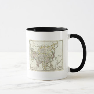 Asia Engraved Map Mug