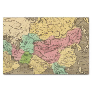 Asia Hand Colored Atlas Map 2 Tissue Paper