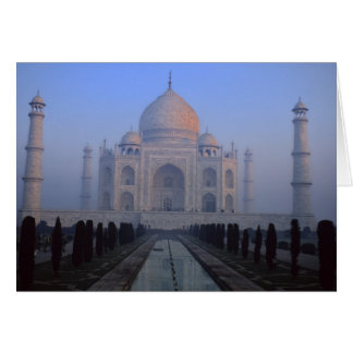 Asia; India; Agra. Taj Mahal. Card