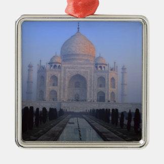 Asia; India; Agra. Taj Mahal. Silver-Colored Square Decoration