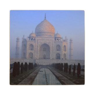 Asia; India; Agra. Taj Mahal. Wood Coaster