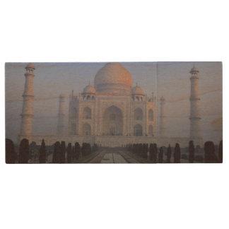 Asia; India; Agra. Taj Mahal. Wood USB Flash Drive