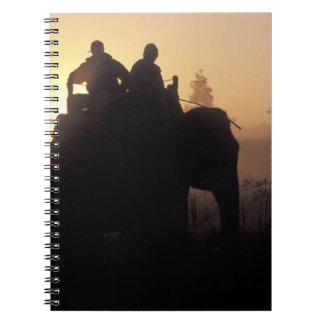 Asia, India, Kanha NP, Elephant safari Notebook