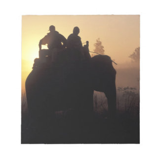 Asia, India, Kanha NP, Elephant safari Notepad