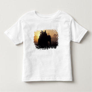 Asia, India, Kanha NP, Elephant safari Toddler T-Shirt