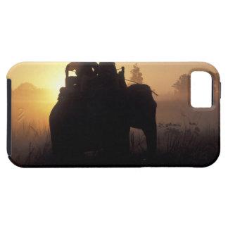 Asia, India, Kanha NP, Elephant safari Tough iPhone 5 Case