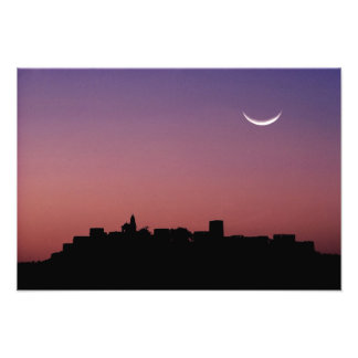 Asia, India, Rajasthan, Jaipur. A crescent Photo Print