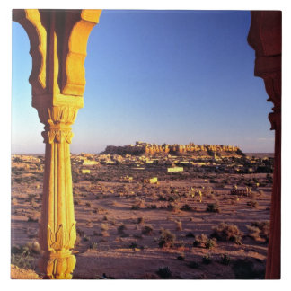 Asia, India, Rajasthan, Jaisalmer. The view from Tile