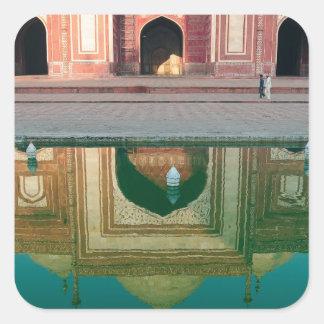 Asia, India, Uttar Pradesh, Agra. On the 2 Square Sticker
