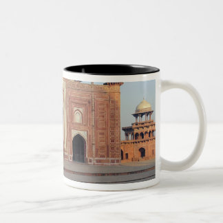 Asia, India, Uttar Pradesh, Agra. On the Two-Tone Coffee Mug