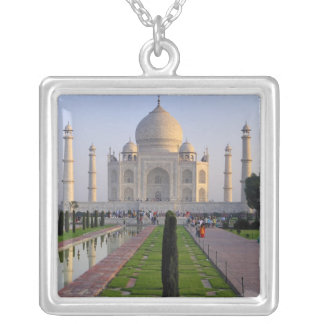 Asia, India, Uttar Pradesh, Agra. The Taj 3 Silver Plated Necklace