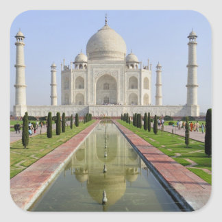 Asia, India, Uttar Pradesh, Agra. The Taj 5 Square Sticker