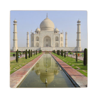 Asia, India, Uttar Pradesh, Agra. The Taj 5 Wood Coaster