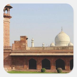 Asia, India, Uttar Pradesh, Agra. The Taj 6 Square Sticker
