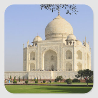 Asia, India, Uttar Pradesh, Agra. The Taj 7 Square Sticker