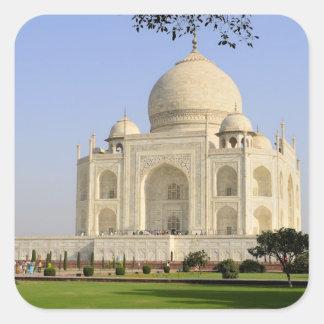 Asia, India, Uttar Pradesh, Agra. The Taj 7 Square Sticker