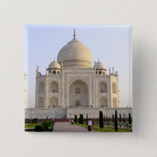Asia, India, Uttar Pradesh, Agra. The Taj 8 15 Cm Square Badge
