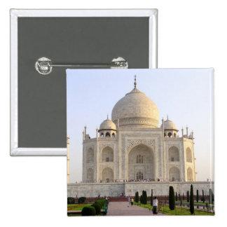 Asia, India, Uttar Pradesh, Agra. The Taj 8 15 Cm Square Badge