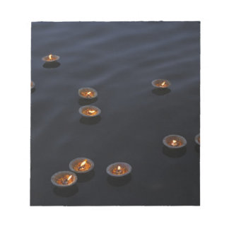 Asia, India, Varanasi Region. Offerings in the Notepad