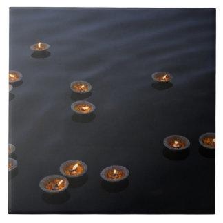 Asia, India, Varanasi Region. Offerings in the Tile