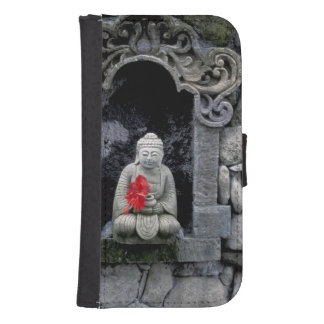 Asia, Indonesia, Bali. A shrine of Buddha Samsung S4 Wallet Case