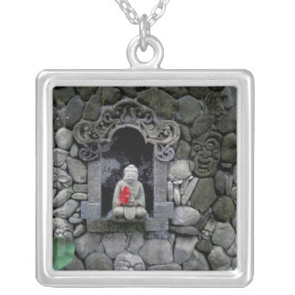 Asia, Indonesia, Bali. A shrine of Buddha Silver Plated Necklace