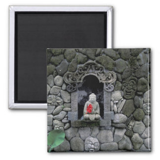 Asia, Indonesia, Bali. A shrine of Buddha Square Magnet