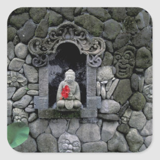 Asia, Indonesia, Bali. A shrine of Buddha Square Sticker