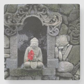 Asia, Indonesia, Bali. A shrine of Buddha Stone Beverage Coaster