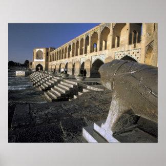 Asia, Iran, Isfahan. Pol-e Khaju Bridge. Poster