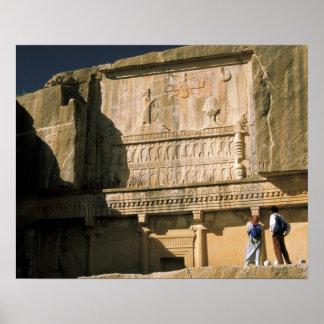Asia, Iran, Persepolis.Tomb of Darius the Great. Poster