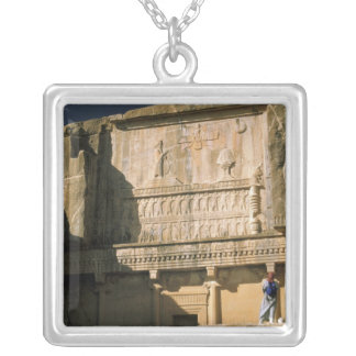 Asia, Iran, Persepolis.Tomb of Darius the Great. Silver Plated Necklace