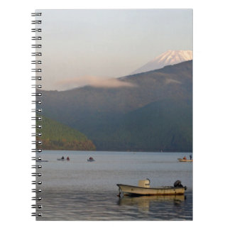 Asia, Japan, Hakone. Early morning views of Mt. Spiral Notebook