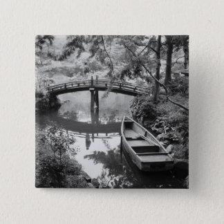 Asia, Japan, Hiroshima. Detail of Shukkei, en 2 15 Cm Square Badge
