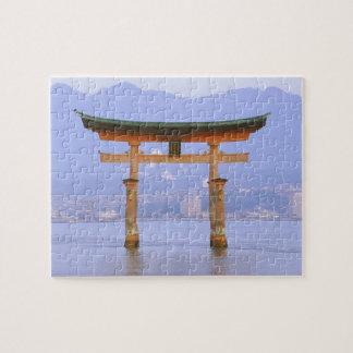 Asia, Japan, Hiroshima. Mivaiima. Torii Gate Jigsaw Puzzle